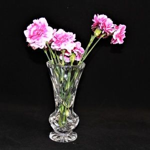 Other - Elegant Crystal Pedestal Flared Bud Vase